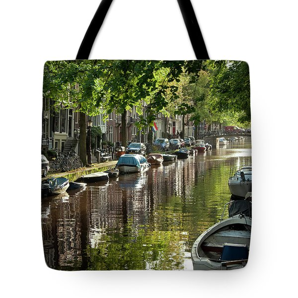 Amsterdam Canal Tote Bag by Joan Carroll