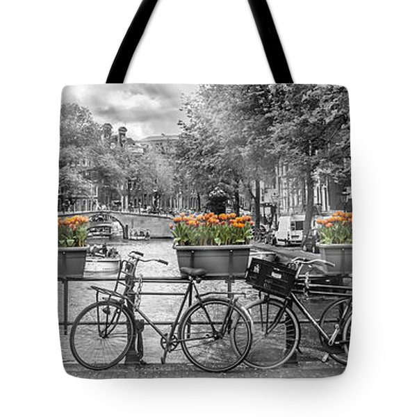 Amsterdam Gentlemen's Canal Panoramic View Tote Bag