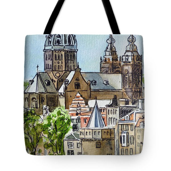 Amsterdam Holland Tote Bag by Irina Sztukowski