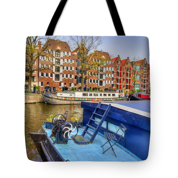 Amsterdam Houseboats Tote Bag