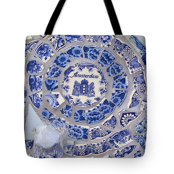Amsterdam In Blue Tote Bag