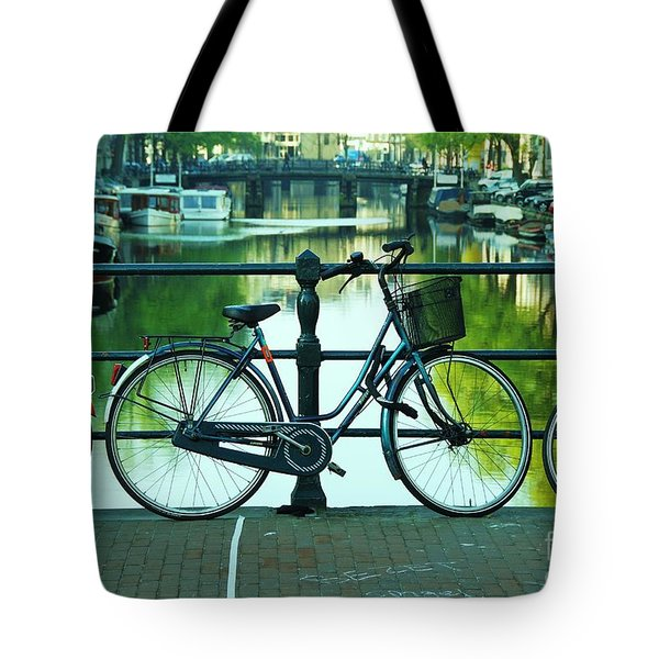 Tote Bag featuring the photograph Amsterdam Scene by Allen Beatty