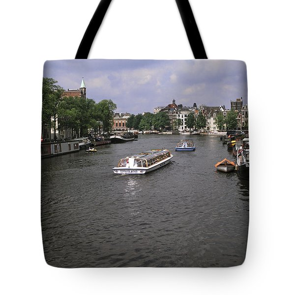 Amsterdam Water Scene Tote Bag by Sally Weigand
