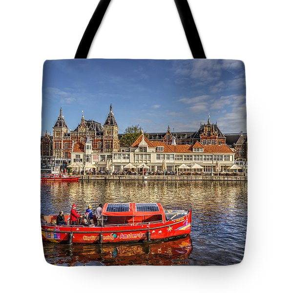 Amsterdam Waterfront Tote Bag by Uri Baruch