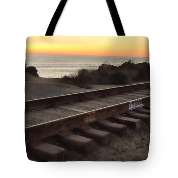 Amtrak On The Pacific Tote Bag