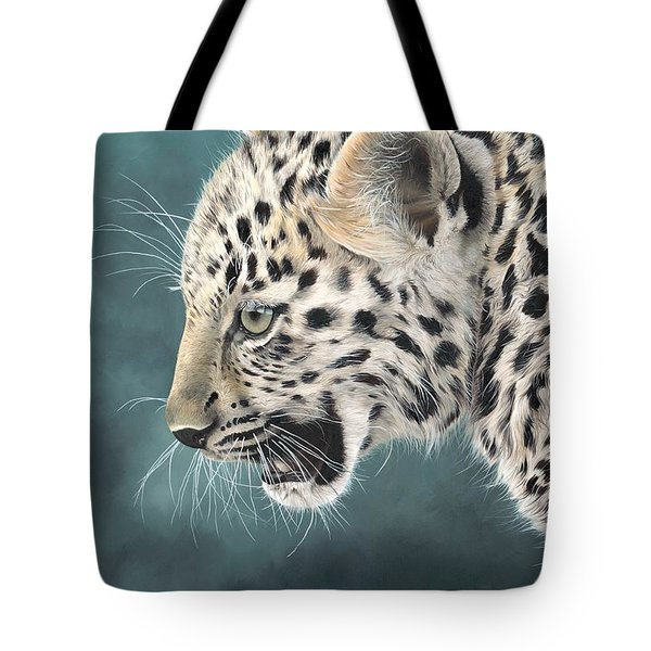 Amur Leopard Cub Tote Bag by Clive Meredith