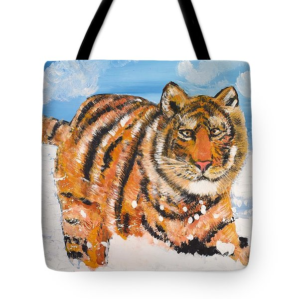 Amur Tiger Tote Bag by Valerie Ornstein