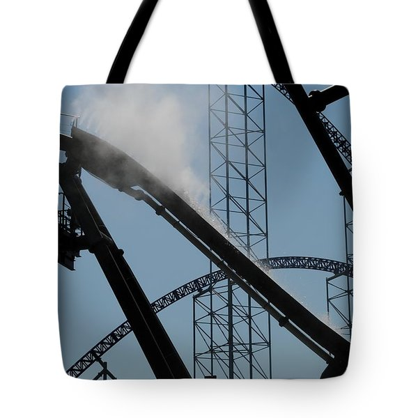 Amusement Park Abstract Tote Bag by Frozen in Time Fine Art Photography
