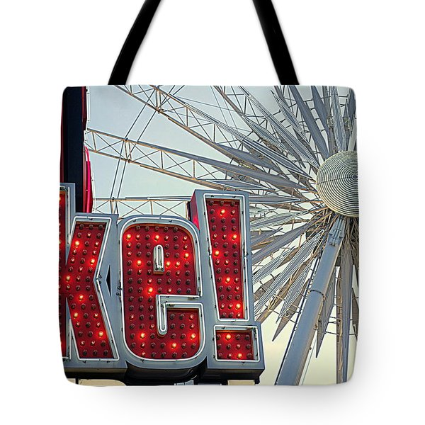 Tote Bag featuring the photograph Amusement by Valentino Visentini