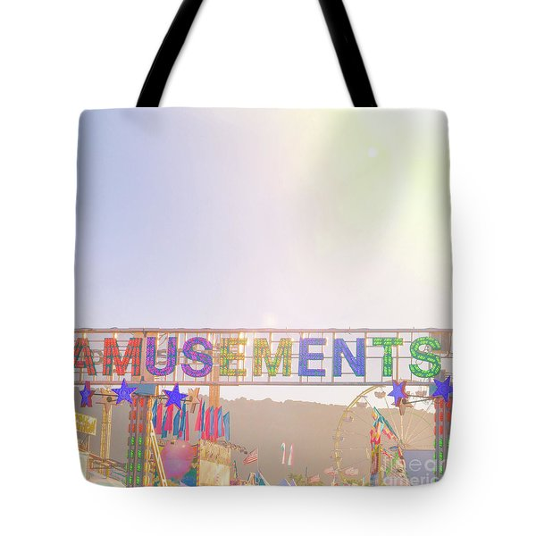Tote Bag featuring the photograph Amusements by Cindy Garber Iverson