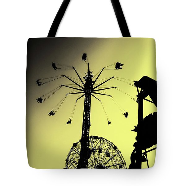 Amusements In Silhouette Tote Bag