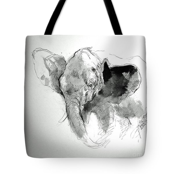 Amy The Saved Elephant Tote Bag