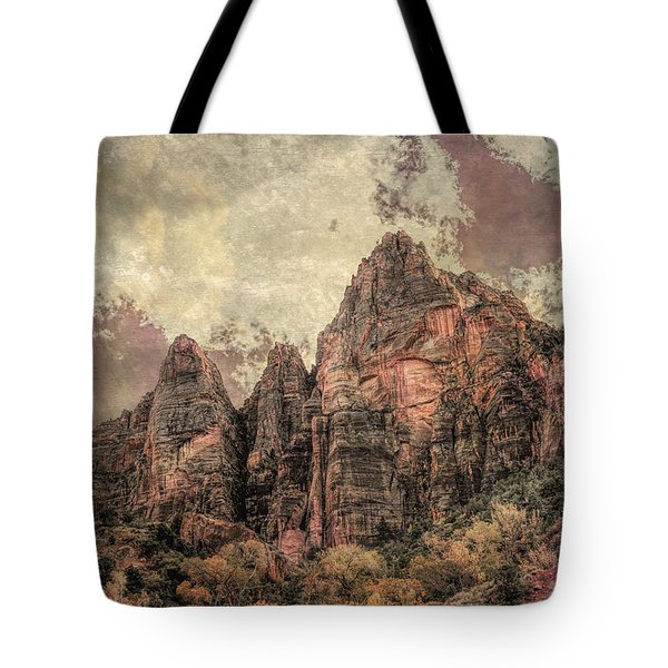 Tote Bag featuring the photograph An Abstract Of Zion by John M Bailey