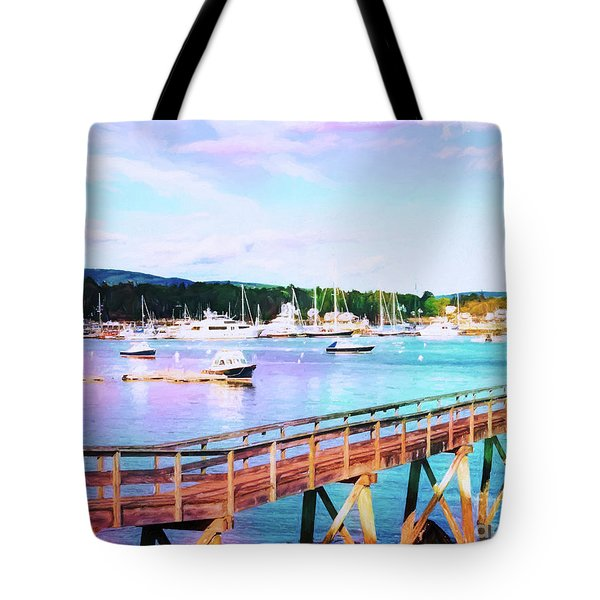 An Abstract View Of Southwest Harbor, Maine  Tote Bag