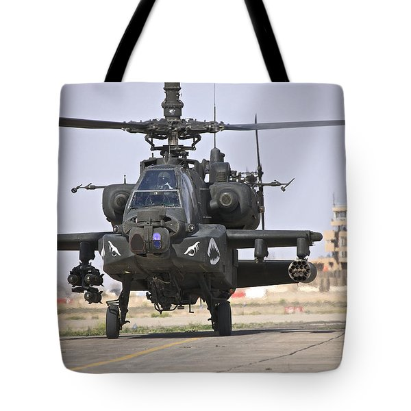 An Ah-64 Apache Helicopter Returns Tote Bag by Terry Moore