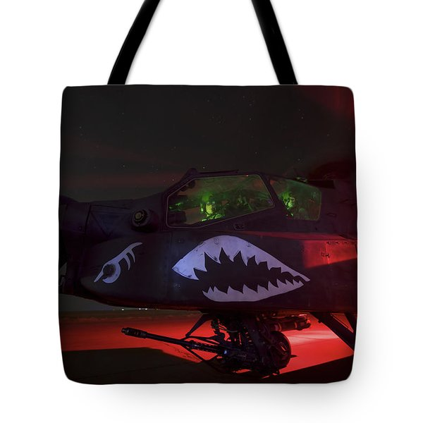 An Ah-64d Apache Longbow Tote Bag by Terry Moore