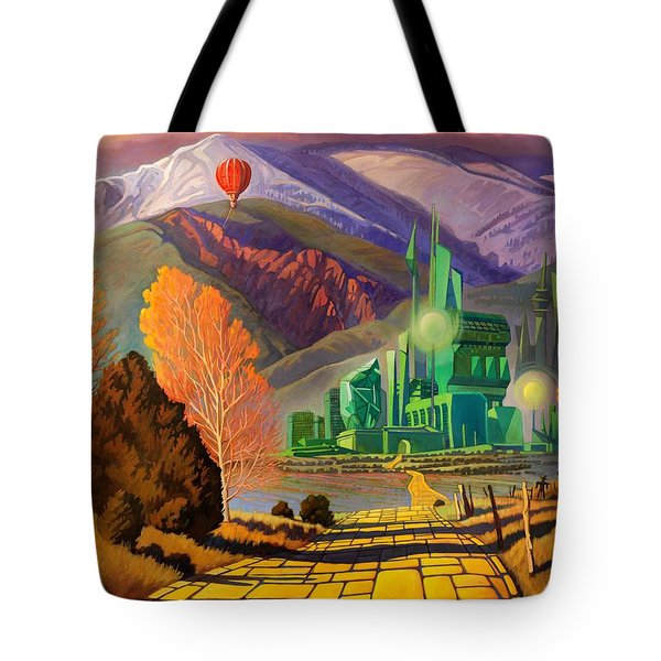 Tote Bag featuring the painting Oz, An American Fairy Tale by Art West