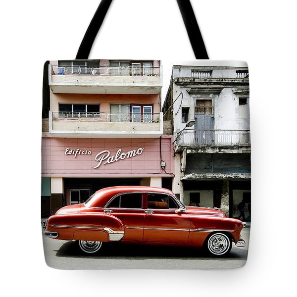 Tote Bag featuring the photograph An American In Havana by Denis Rouleau