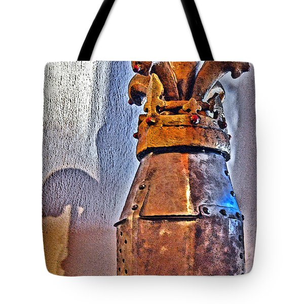 An Ancient Knight's Helmet. Tote Bag