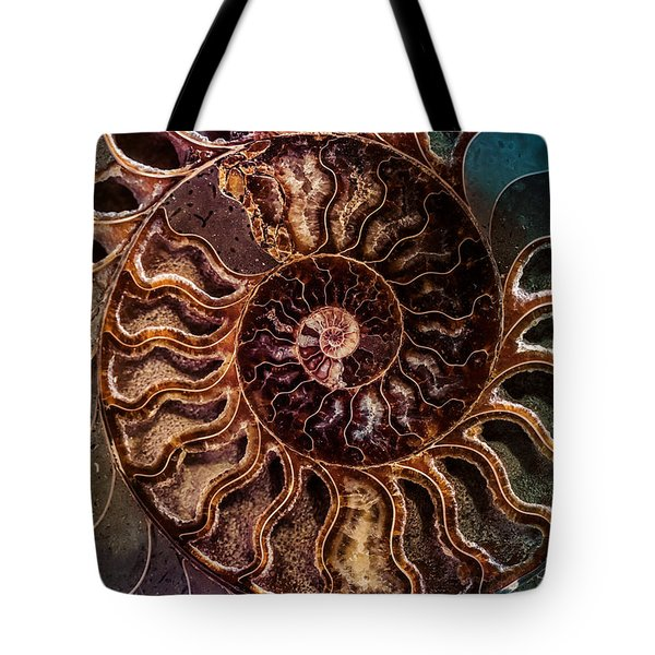 Tote Bag featuring the photograph An Ancient Shell by Jaroslaw Blaminsky