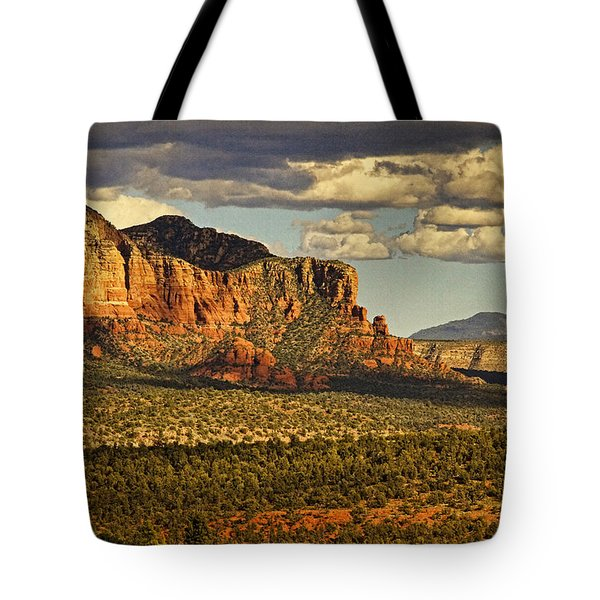 An Ancient View Text Tote Bag