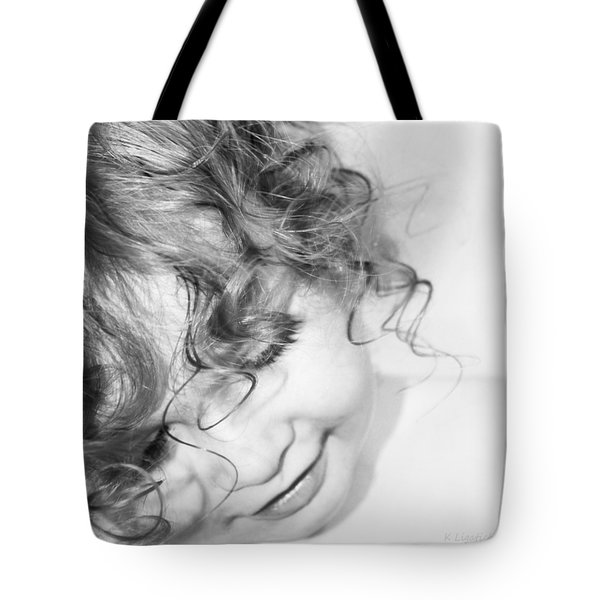 An Angels Smile - Black And White Tote Bag
