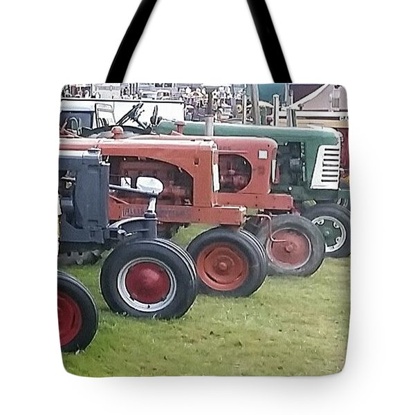 An Antique Line Up Tote Bag