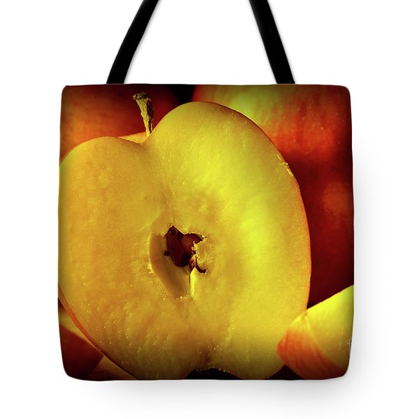 An Apple A Day Tote Bag by Brian Roscorla