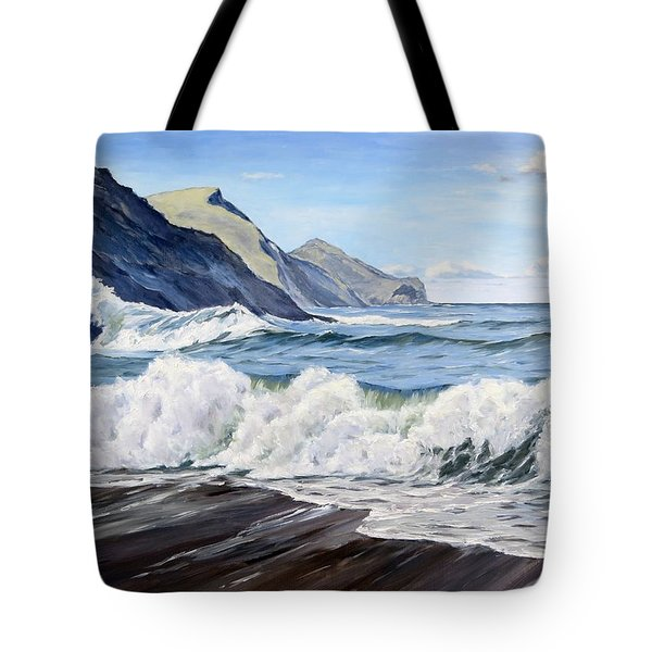 An April Morning At Crackington Haven Tote Bag