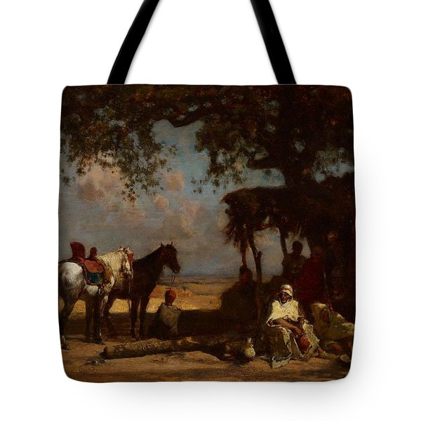 An Arab Encampment Tote Bag by Gustave Guillaumet