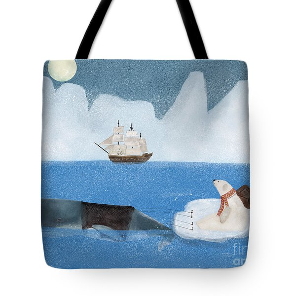Tote Bag featuring the painting An Arctic Adventure by Bri B
