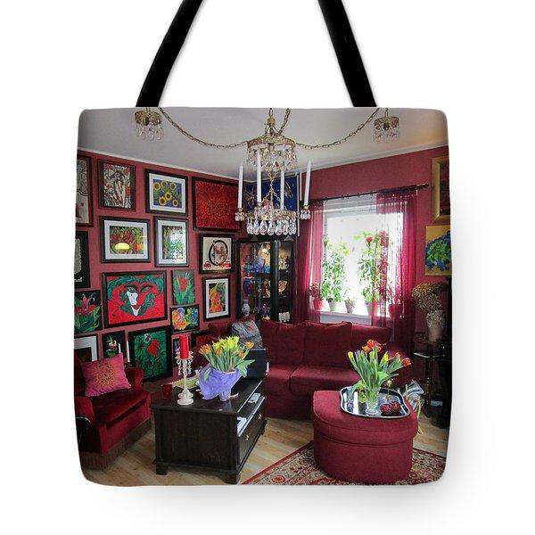 An Artists Livingroom Tote Bag