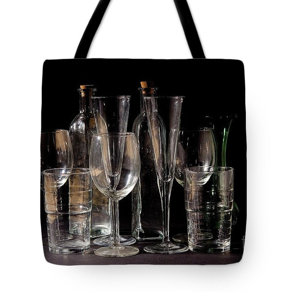 An Assortment Of Empty Cocktail And Wine Glasses Tote Bag