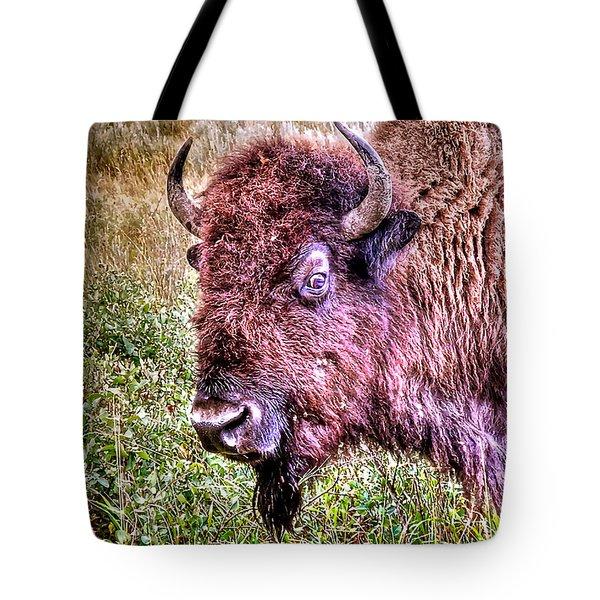 An Astonished Bison Tote Bag