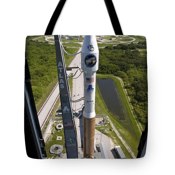 An Atlas V Rocket On The Launch Pad Tote Bag