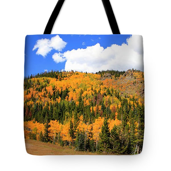 An Autumn Drive - Panorama Tote Bag