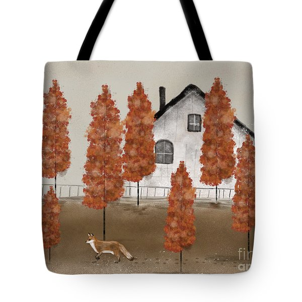 An Autumns Morning Tote Bag