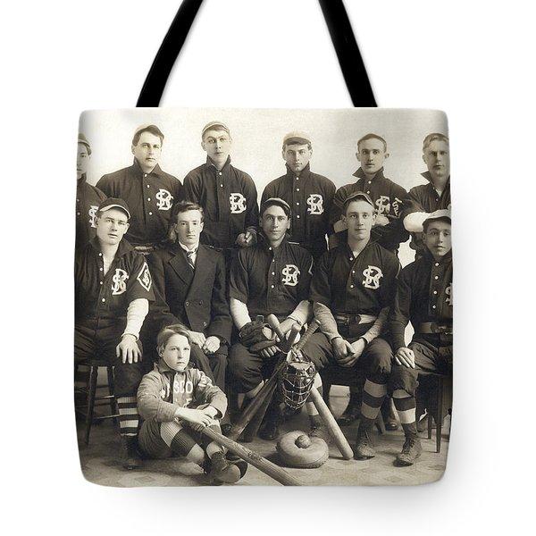 An Early Sf Baseball Team Tote Bag by American School