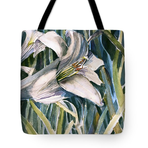 Tote Bag featuring the painting An Easter Lily by Mindy Newman
