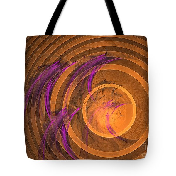 An Echo From The Past - Abstract Art Tote Bag