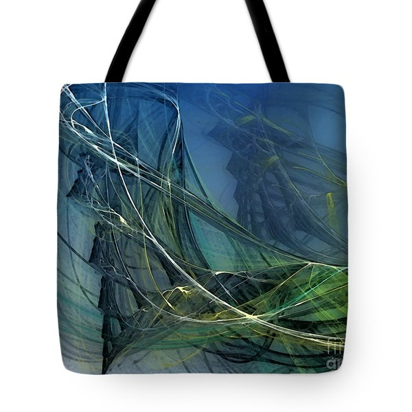 Tote Bag featuring the digital art An Echo Of Speed by Karin Kuhlmann