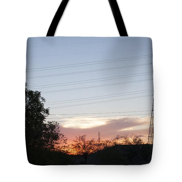 Tote Bag featuring the photograph An Electric View by Anne Rodkin