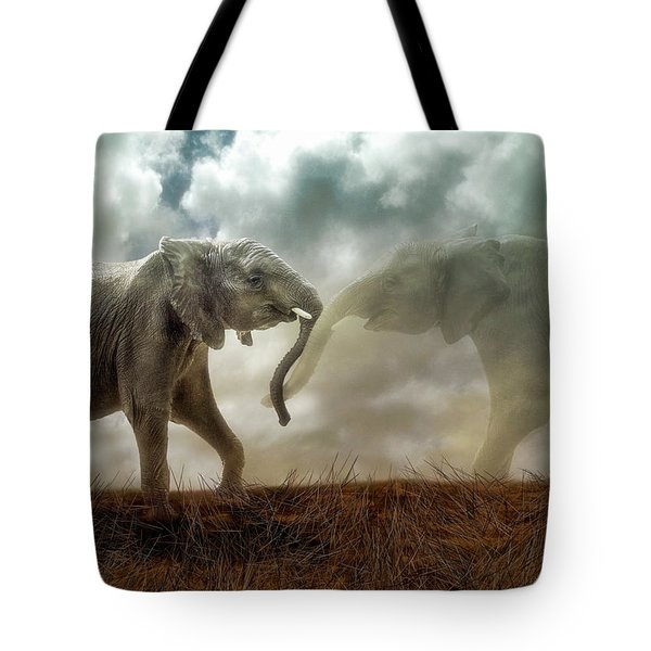 An Elephant Never Forgets Tote Bag