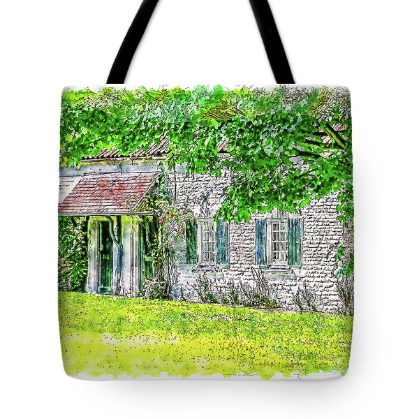 Tote Bag featuring the digital art An English Cottage by Anthony Murphy