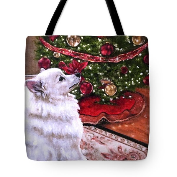 An Eskie Christmas Tote Bag