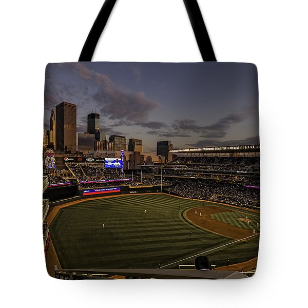 An Evening At Target Field Tote Bag