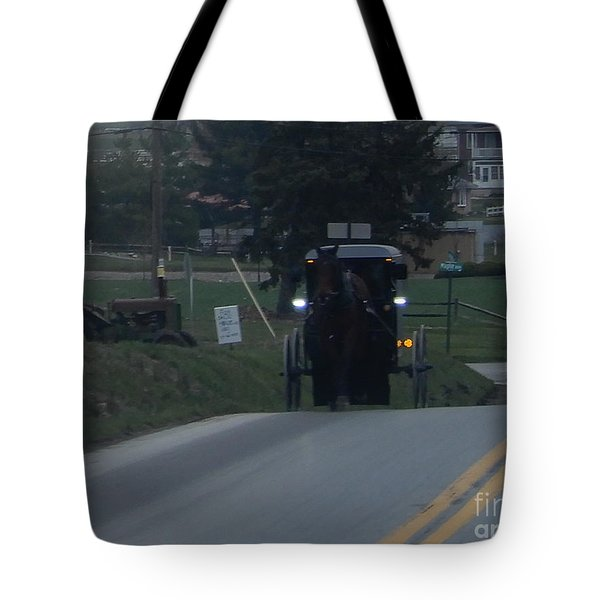 An Evening Commute Tote Bag