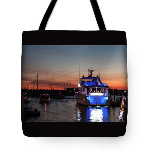 Tote Bag featuring the photograph An Evening In Newport Rhode Island II by Suzanne Gaff