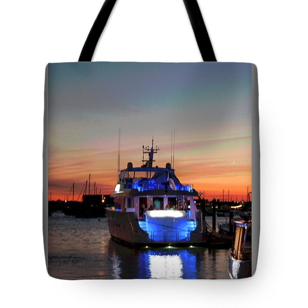 Tote Bag featuring the photograph An Evening In Newport Rhode Island IIi by Suzanne Gaff
