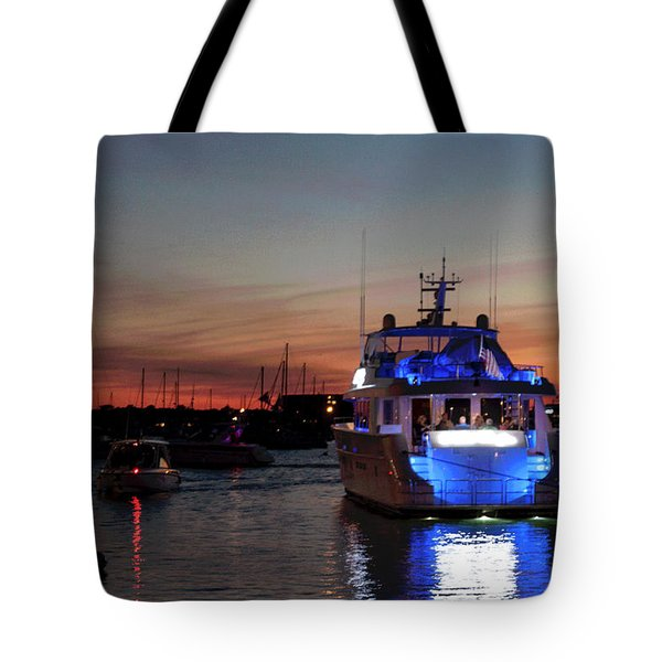 Tote Bag featuring the photograph An Evening In Newport Rhode Island Iv by Suzanne Gaff